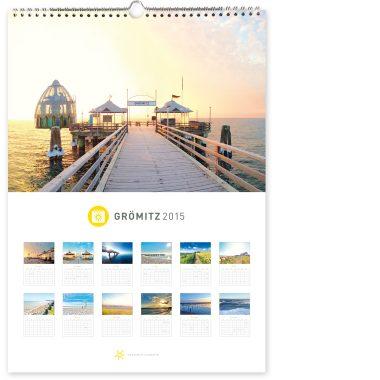 Grömitz Kalender A3 - Seebrücke