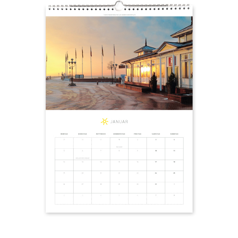 Grömitz Kalender A3 - Touristeninformation am Seebrückenvorplatz