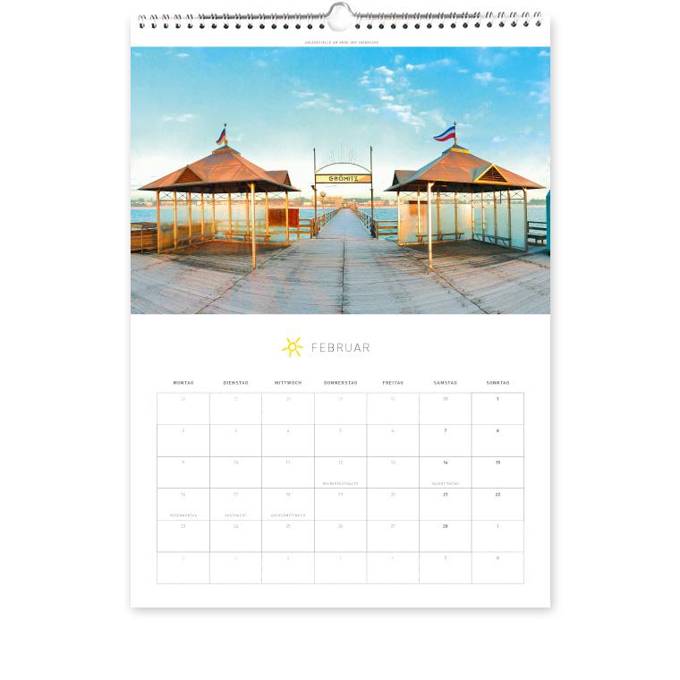 Grömitz Kalender A3 - Anlegestelle am Ende der Seebrücke