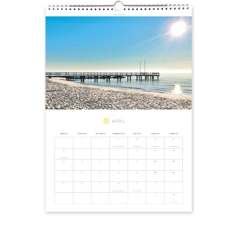 Grömitz Kalender A3 - Kleine Seebrücke