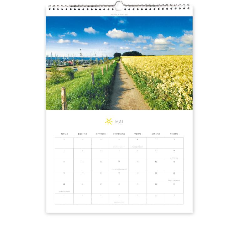 Grömitz Kalender A3 - Feldweg am Yachthafen