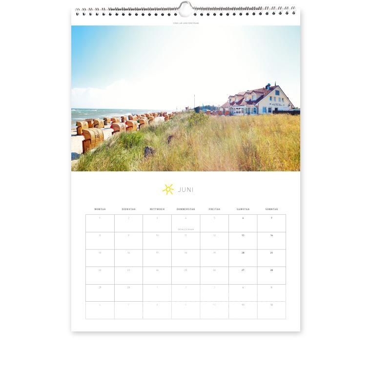 Grömitz Kalender A3 - Düne am Lensterstrand