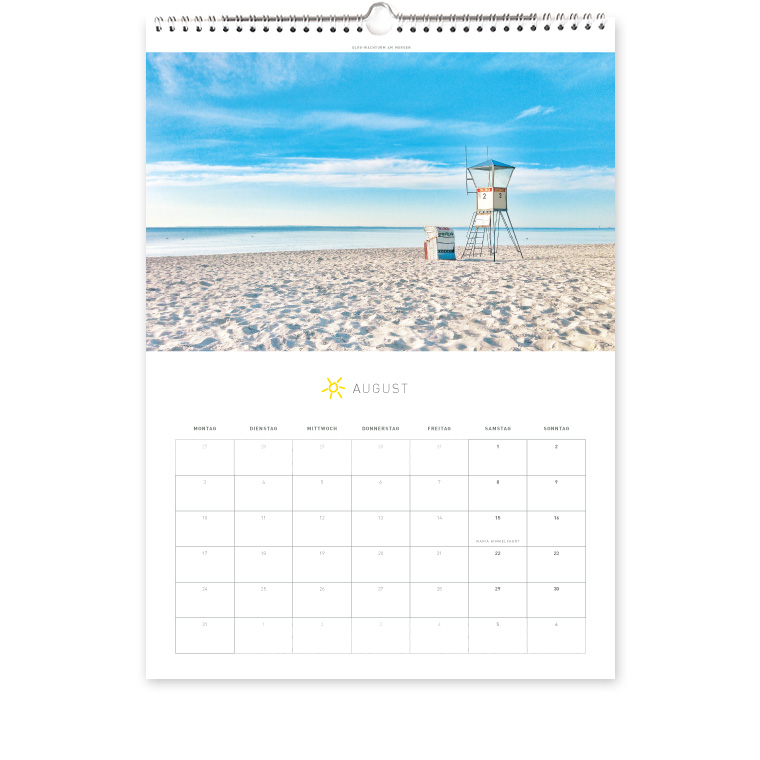 Grömitz Kalender A3 - DLRG-Wachturm am Morgen