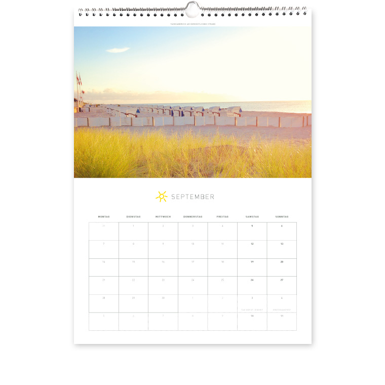 Grömitz Kalender A3 - Tagesanbruch am nördöstlichen Strand