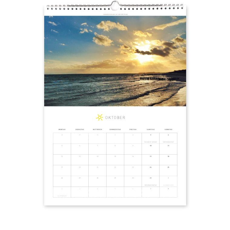 Grömitz Kalender A3 - Sonnenuntergang am Lensterstrand