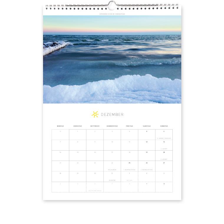 Grömitz Kalender A3 - Zufrierende Ostsee bei Sonnenaufgang