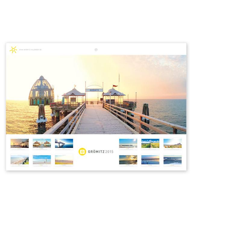 Grömitz Kalender A4 - Seebrücke