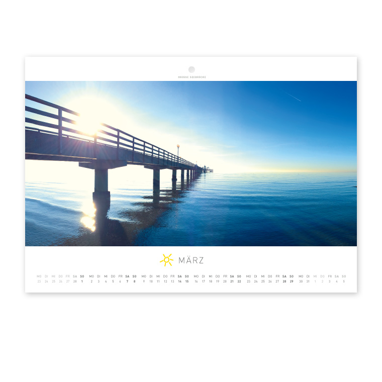 Grömitz Wandkalender A4 - Große Seebrücke