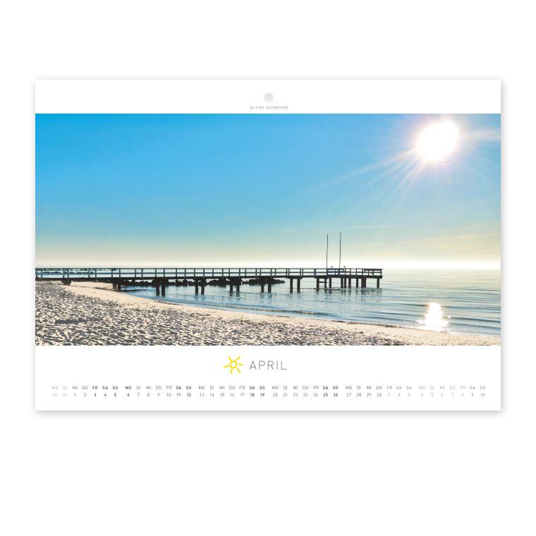 Grömitz Wandkalender A4 - Kleine Seebrücke