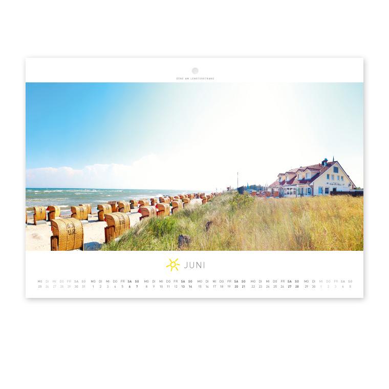 Grömitz Wandkalender A4 - Düne am Lensterstrand