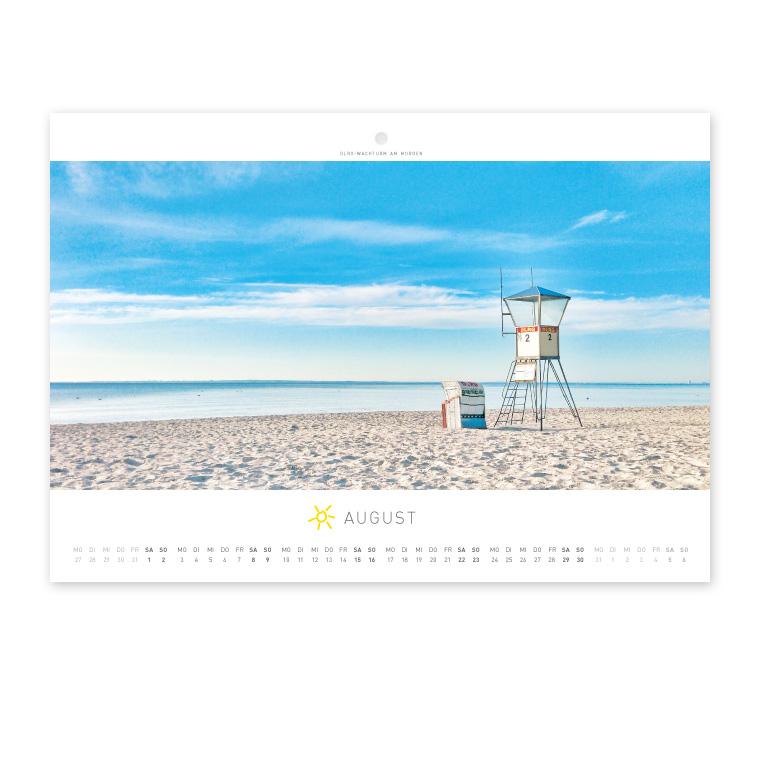 Grömitz Wandkalender A4 - DLRG-Wachturm am Morgen