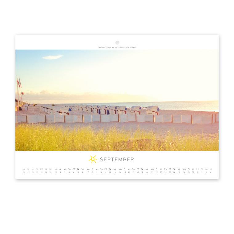 Grömitz Wandkalender A4 - Tagesanbruch am nordöstlichen Strand