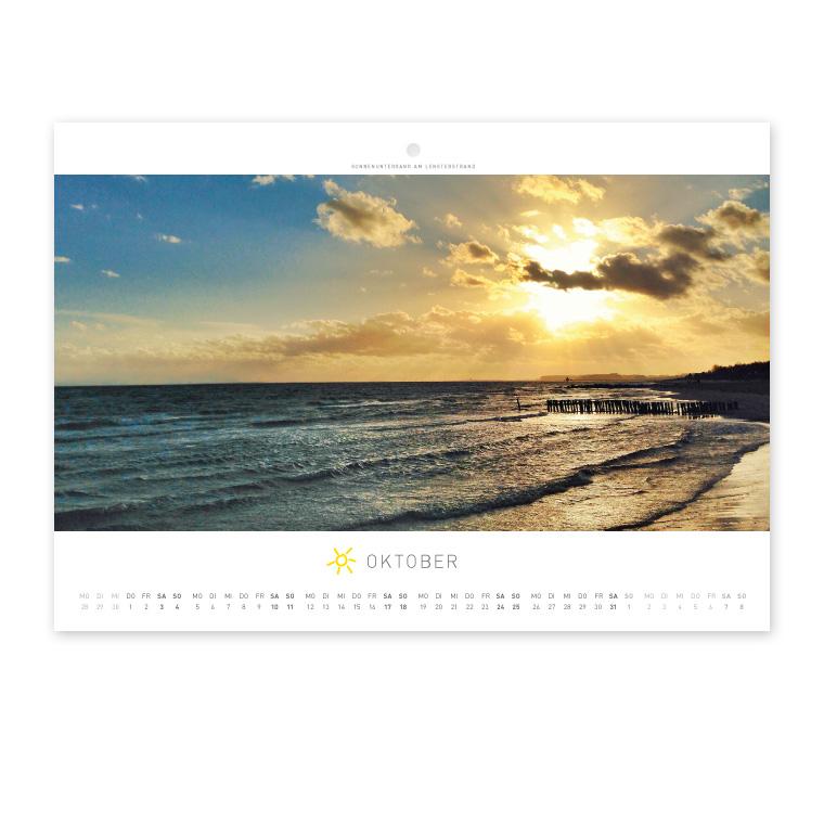 Grömitz Wandkalender A4 - Sonnenuntergang am Lensterstrand