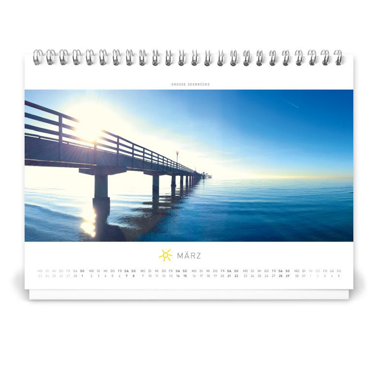 Grömitz Tischkalender A5 - Große Seebrücke