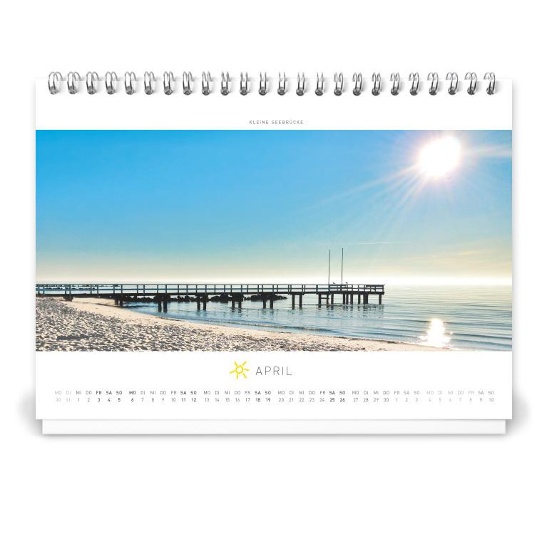 Grömitz Tischkalender A5 - Kleine Seebrücke