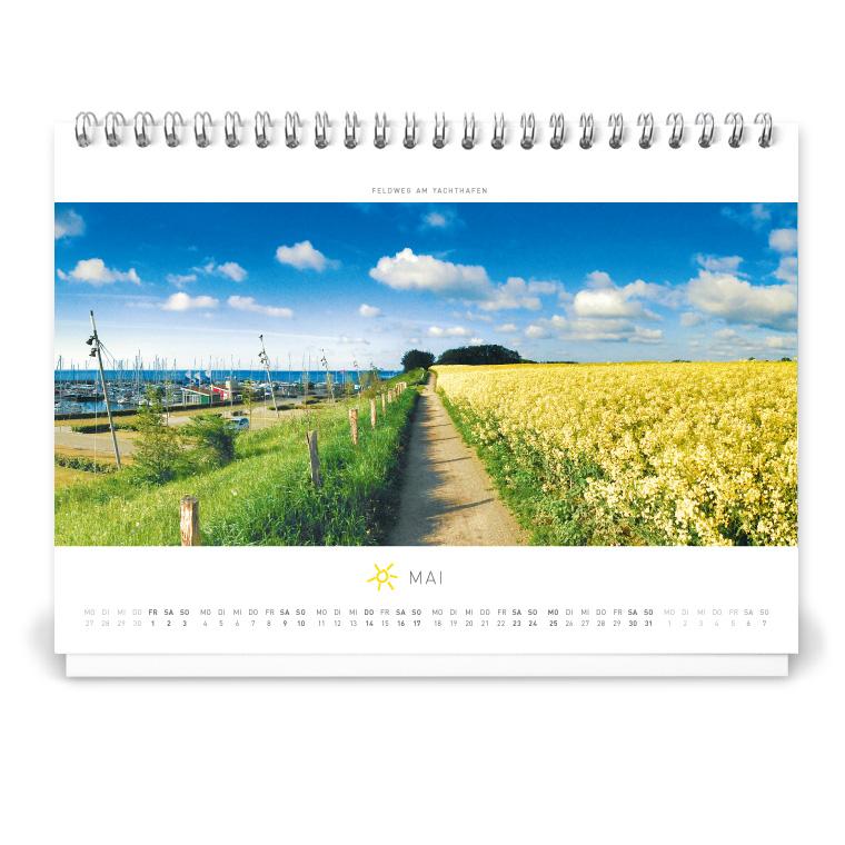 Grömitz Tischkalender A5 - Feldweg am Yachthafen