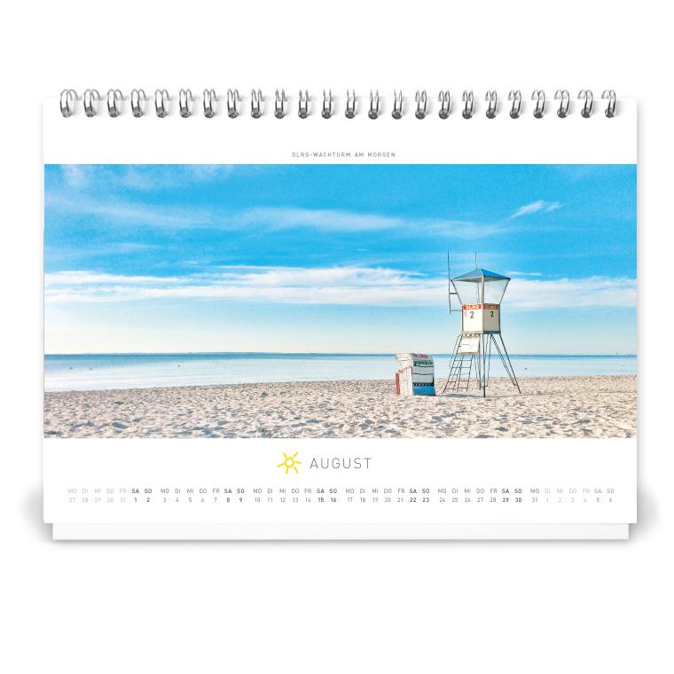 Grömitz Tischkalender A5 - DLRG-Wachturm am Morgen