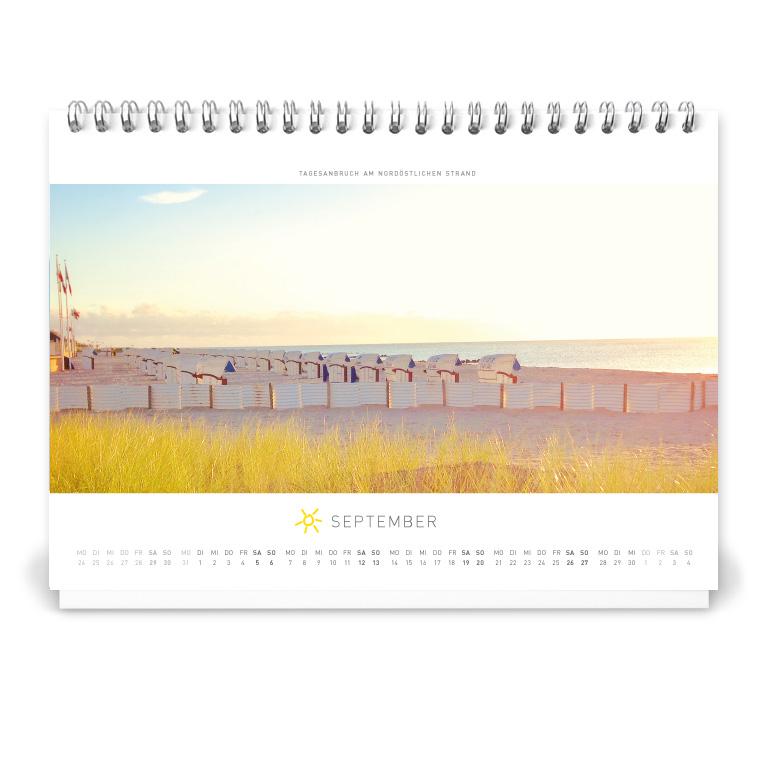 Grömitz Tischkalender A5 - Tagesanbruch am nordöstlichen Strand