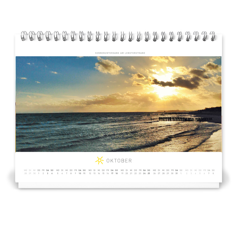 Grömitz Tischkalender A5 - Sonnenuntergang am Lensterstrand