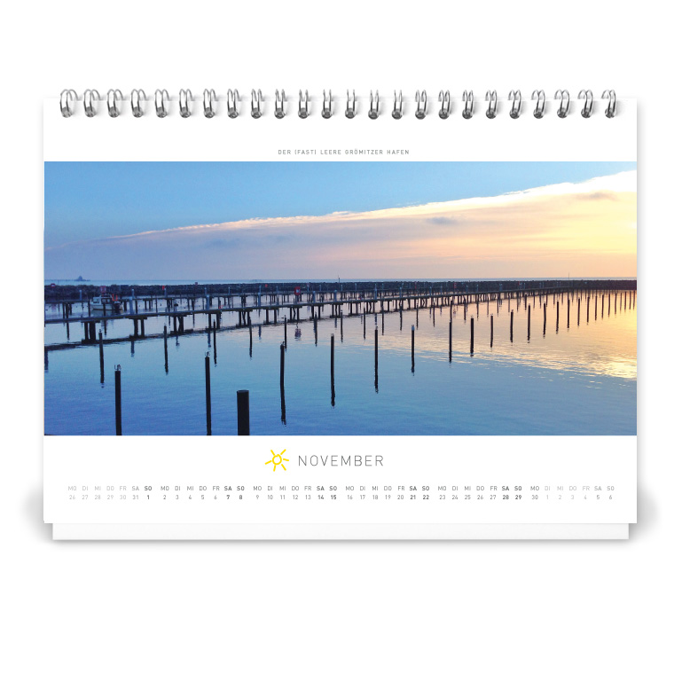 Grömitz Tischkalender A5 - Der (fast) leere Grömitzer Hafen