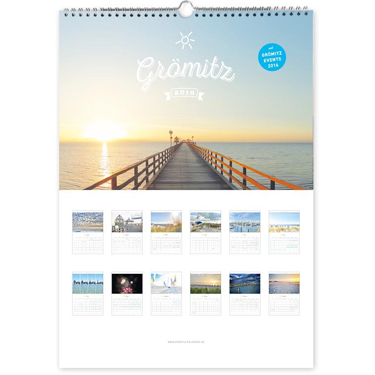 Grömitz Kalender 2016 Wandkalender DIN-A3