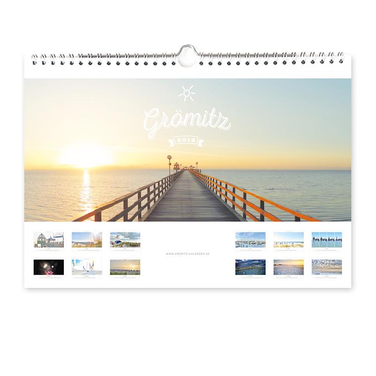 Grömitz Kalender 2016 DIN-A4 Wandkalender