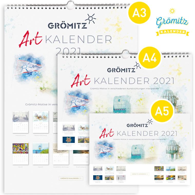 Grömitz Art-Kalender 2021 Set