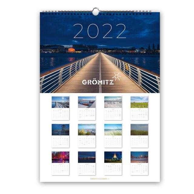 Grömitz A3 Wand-Kalender 2022